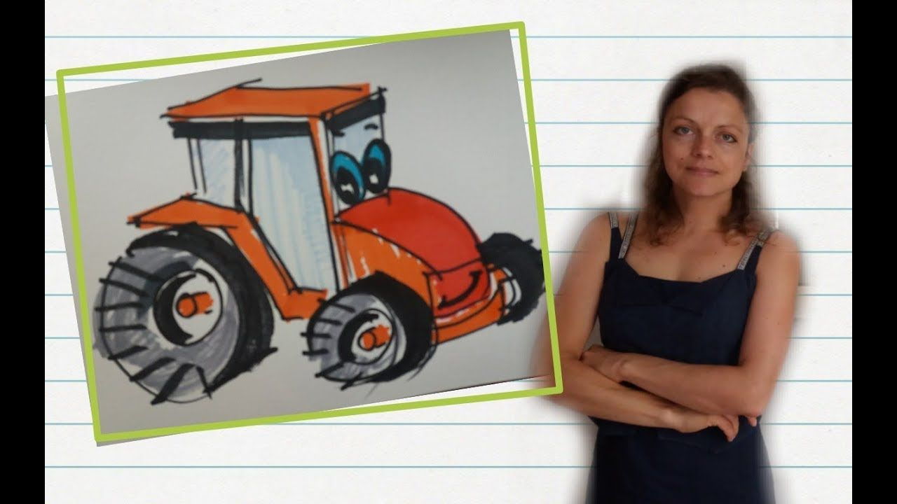 How To Draw A Tractor Drawings Tractors How To Drow