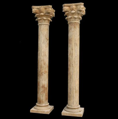 Tuscan Non Tapered Fluted Marble Column Marble Columns Stone Architecture Stone Gallery
