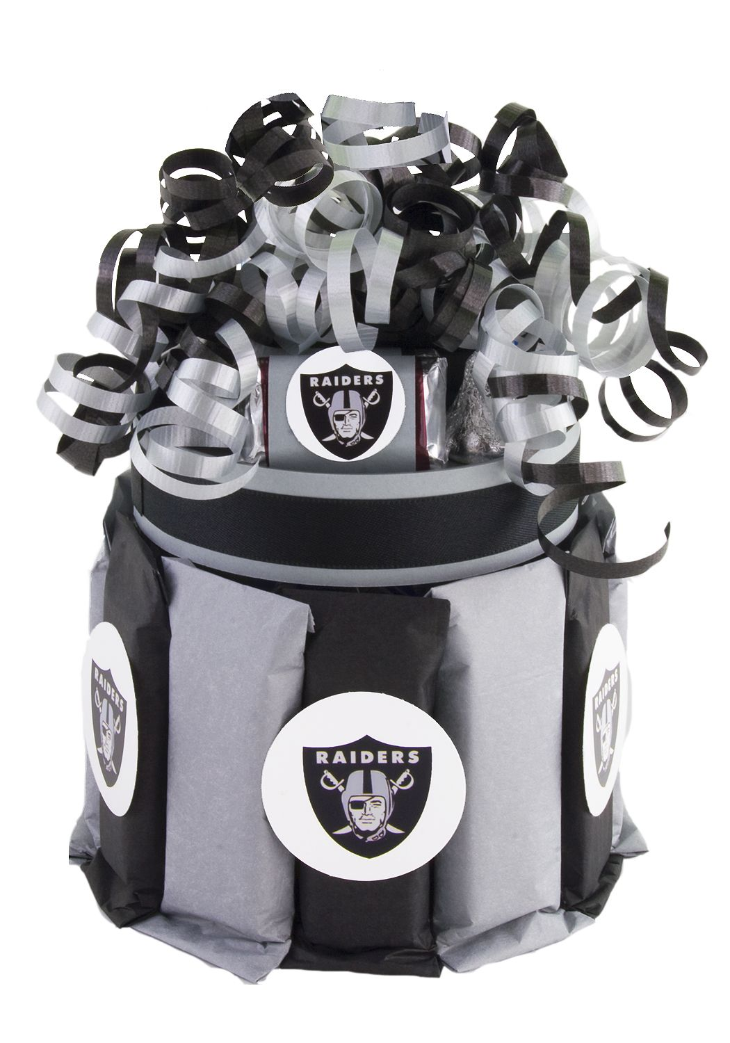 Oakland Raiders Candy Cupcake