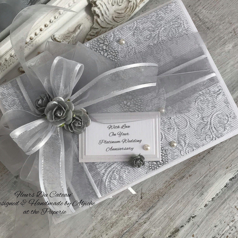 70th Anniversary Card, Platinum Wedding Cards, Diamond