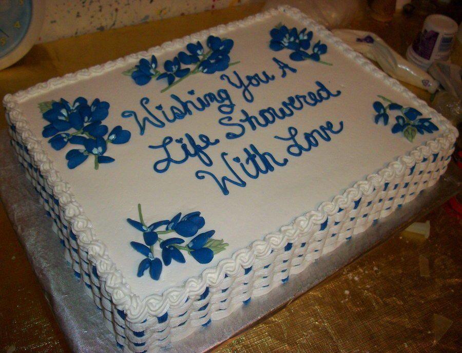 Texas Bridal Shower Cake Bridal shower cake