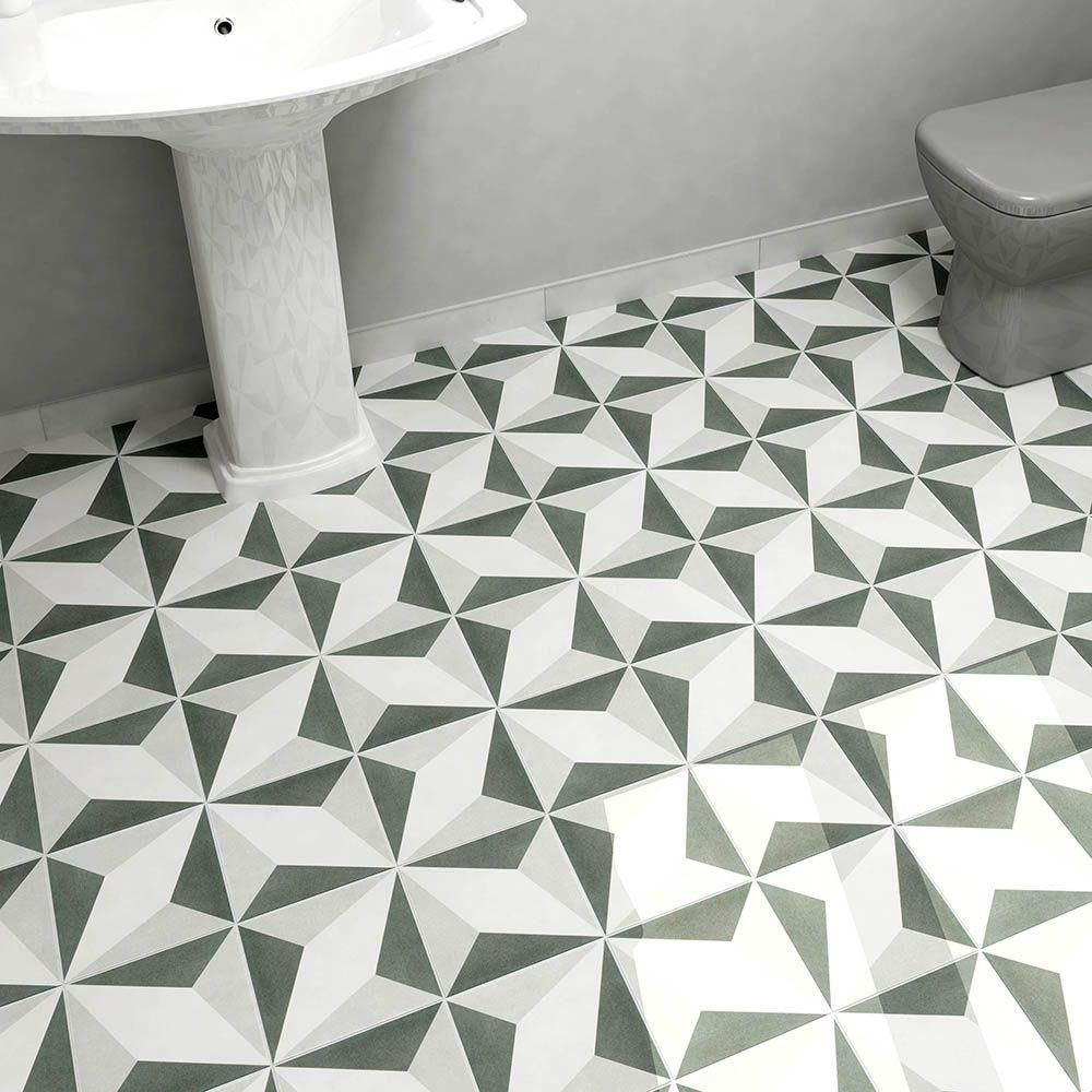 Merola Tile Twenties Diamond 734 in x 734 in Ceramic Floor