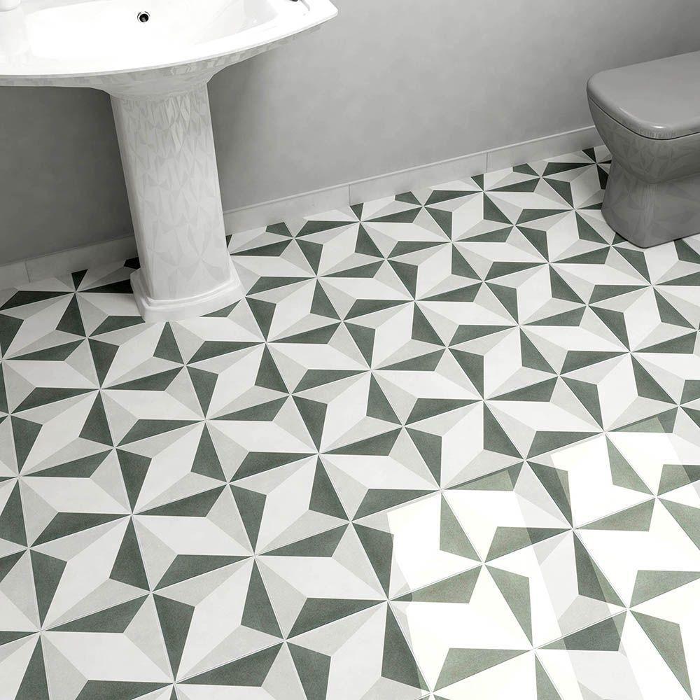 Merola Tile Twenties Diamond 7-3/4 in. x 7-3/4 in. Ceramic Floor and ...