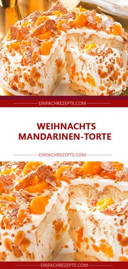 Weihnachts Mandarinen-Torte – essen für feier
