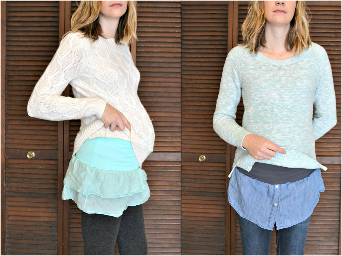 Diy Maternity Clothes How To Make Maternity Belly Bands With Shirt Hems