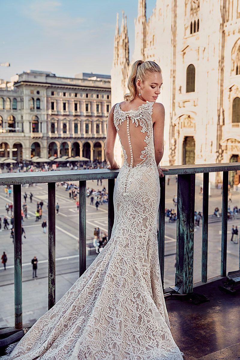 Lacey and elegant wedding gown (style # MD209) by @eddykbridal - see ...