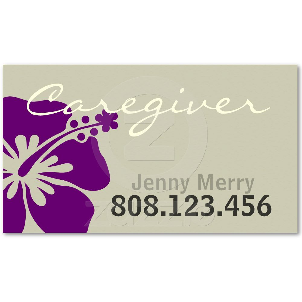Flower Caregiver Business Card template | Caregiver, Card ...
