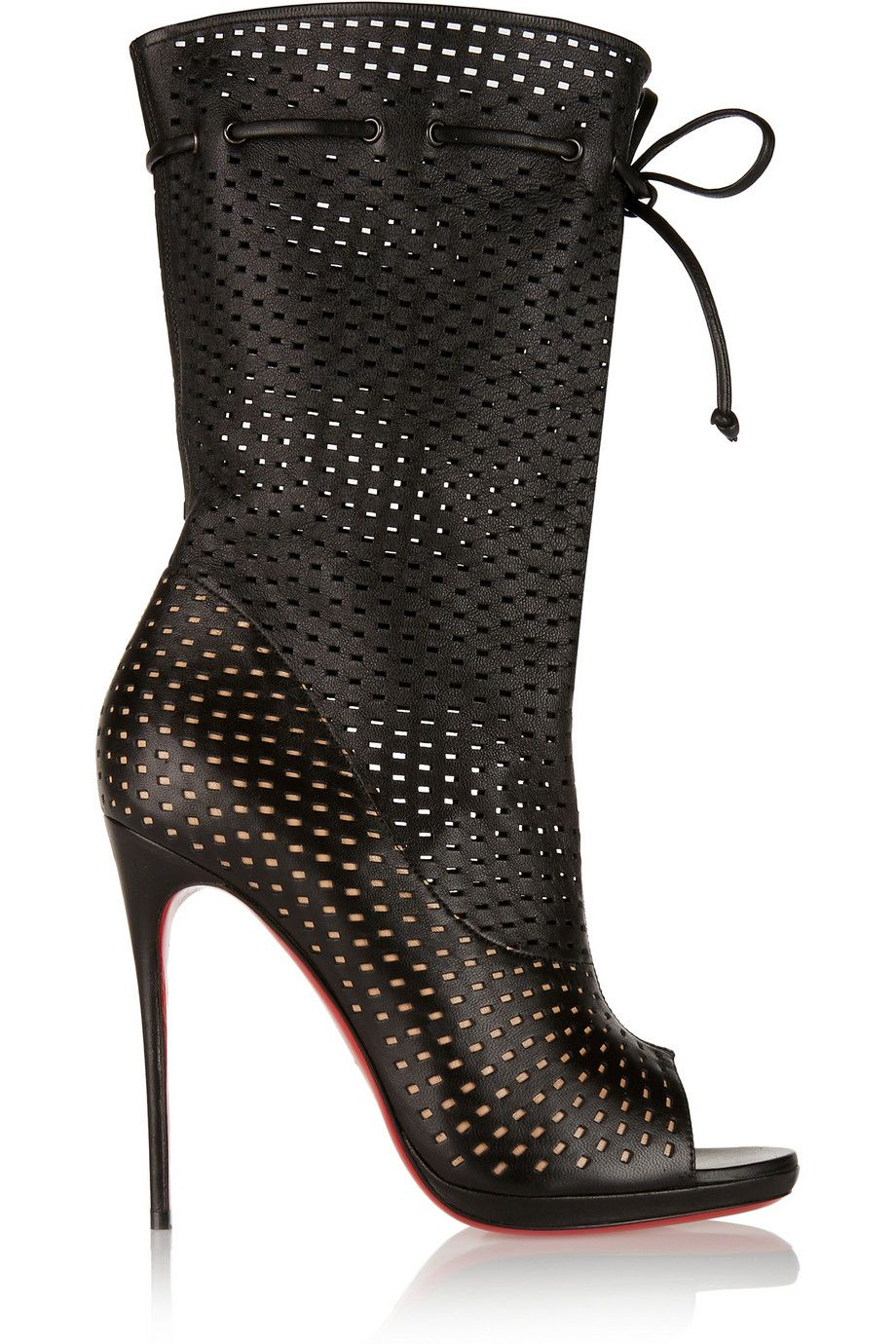 meet 96e96 be5f7 Christian Louboutin - Jennifer 120 perforated leather boots ...