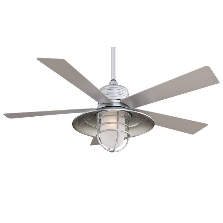 Shop for the MinkaAire Galvanized Rainman 5 Blade Indoor   Outdoor Ceiling  Fan   Light  Wall Control  and Blades Included and save seaside coastal living ceiling fan     nautical ceiling fan  . Nautical Indoor Ceiling Lighting. Home Design Ideas