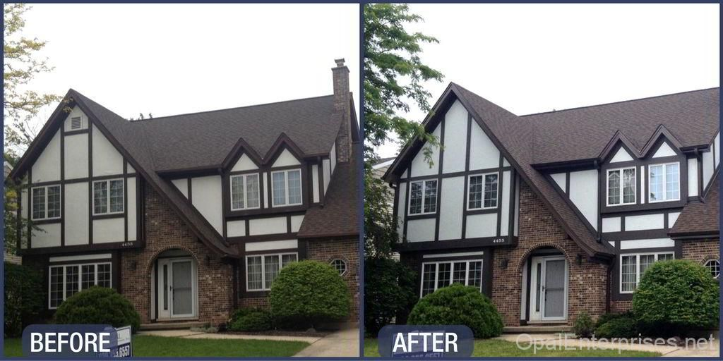 Snazzy Stucco Siding Replacement On A Tudor Home In Lisle Illinois Exterior House Renovation Stucco Siding House Exterior
