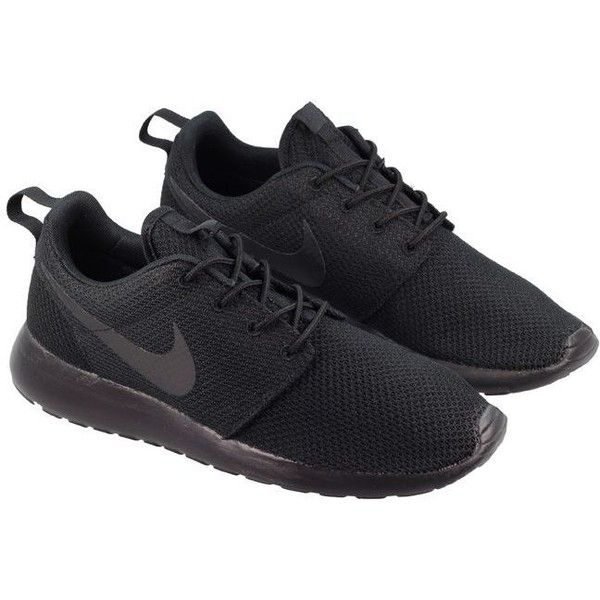 Nike Shoes Mens Roshe Run Triple Black ($105) ❤ liked on Polyvore featuring  mens