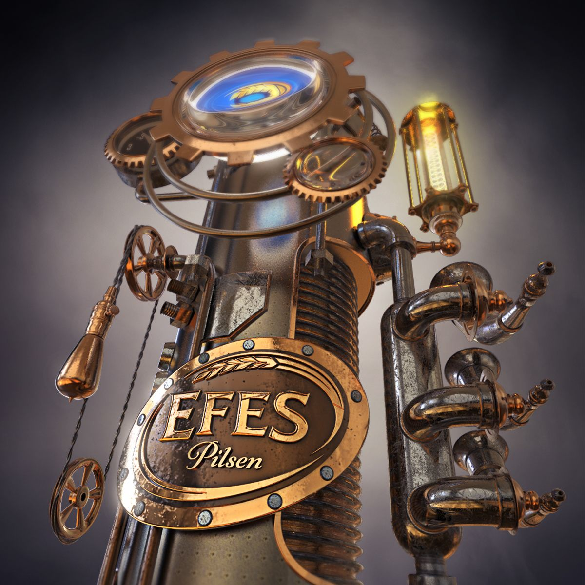 Efes Beer Tower Steampunk On Behance Beer Tower Efes Beer Beer