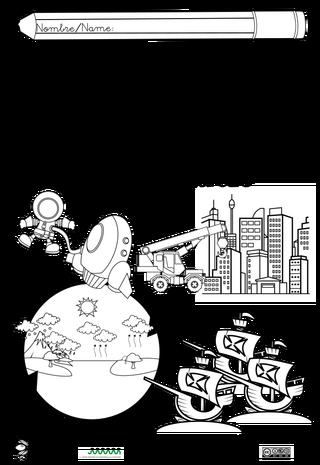 Portadas Bilingues Para Naturales Y Sociales Actiludis Dibujos De Ciencias Sociales Caratulas De Ciencias Cuadernos De Ciencias