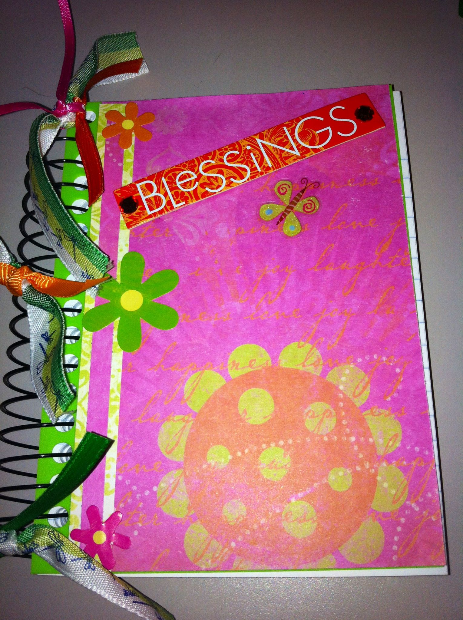 Blessings notebook