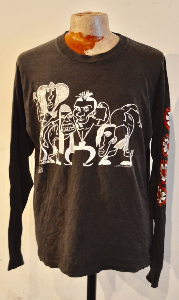3dd5d380a842 VINTAGE VERY RARE RED HOT CHILI PEPPERS LONG SLEEVE MOTHERS MILK TOUR T  SHIRT   eBay