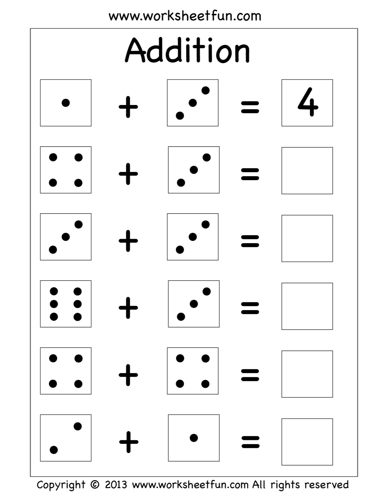 Addition Worksheet With Images