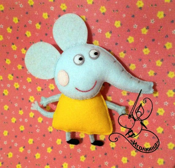 Peppa Pig. Felt Peppa Pig with Teddy Bear toy. Princess toy. Crown up felt doll Peppa toy with bear. Peppa Pig doll. Teddy Bear toy. #beartoy