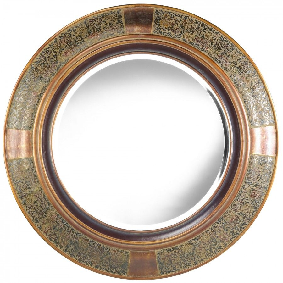 Cooper Classics Elliott Wall Mirror in Aged Copper - 4802