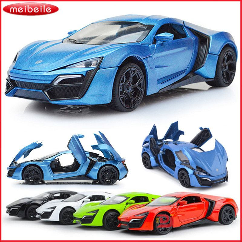 1:32 Lykan Hypersport Model Pull Back Toys Cars Gift For Boys Kids ...