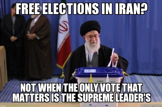 d077a33b8a114f43571a35b4fbe8facc elections are a joke in iran they're rigged and in the end