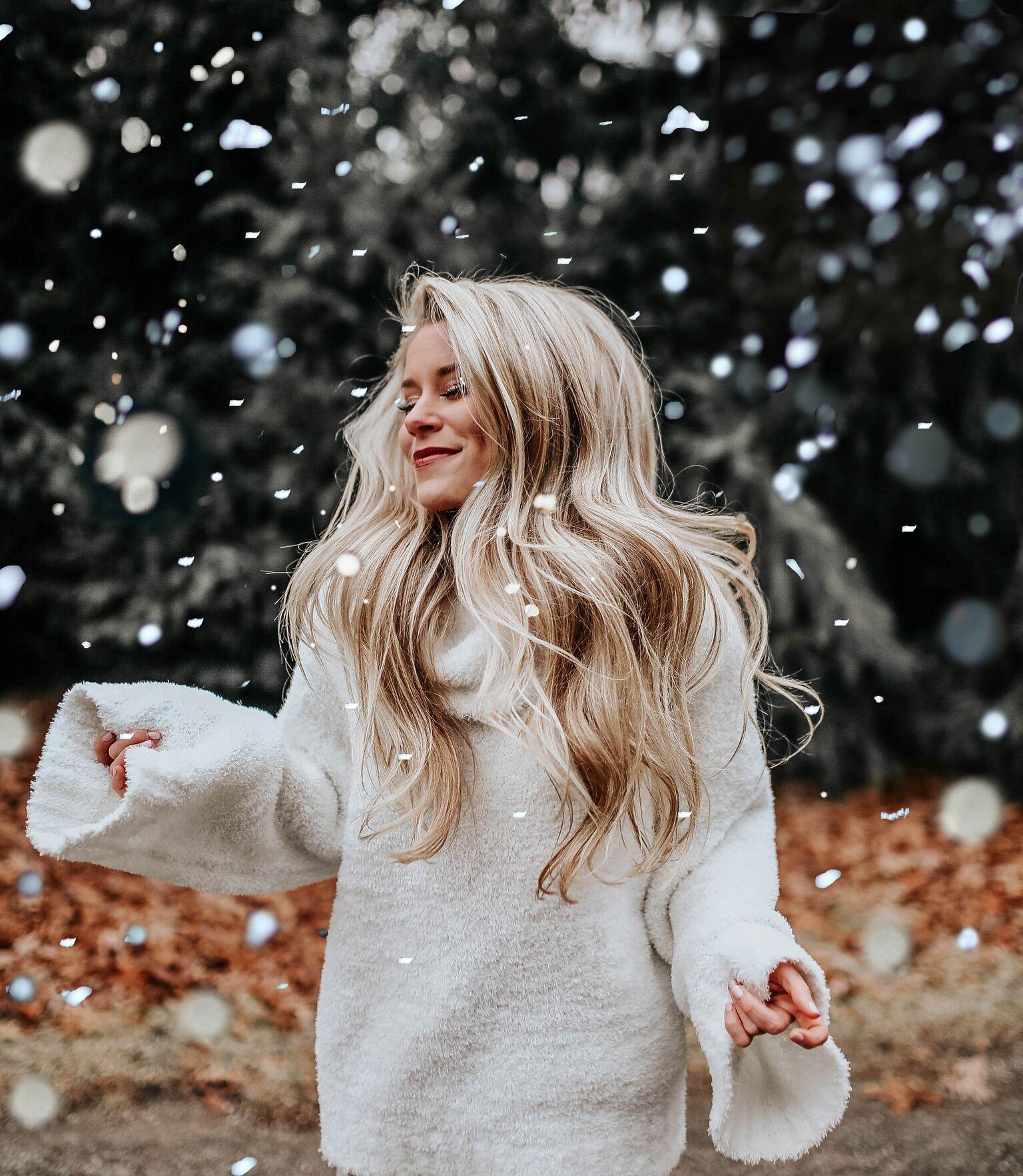 Зима блондинки картинки