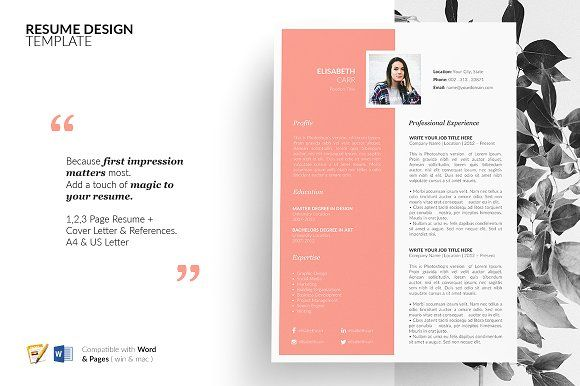 Resume Template 5 Pages CV Design by GraphicFlava on - resume 5 pages