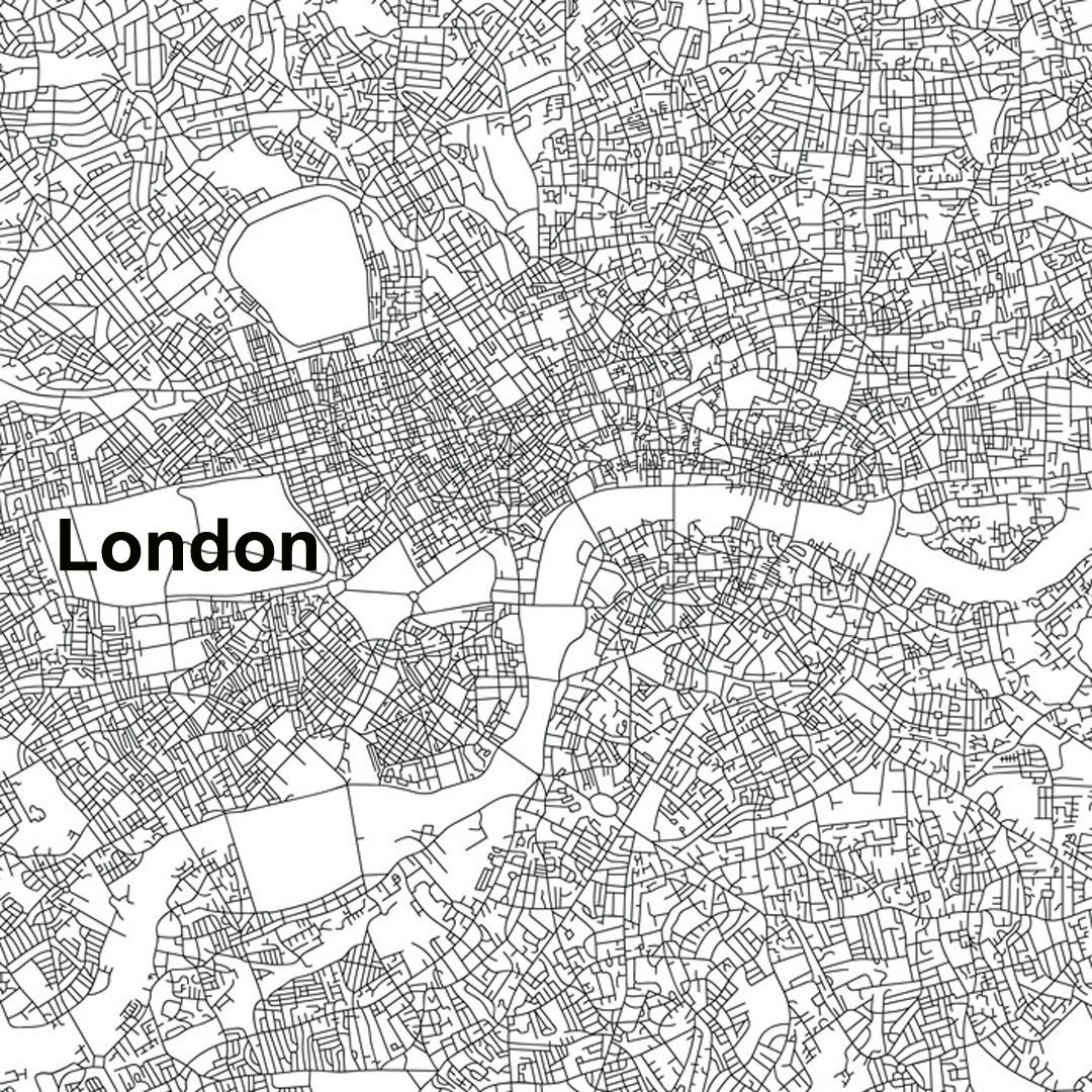 URBAN MORPHOLOGY: These maps of central New York City, London
