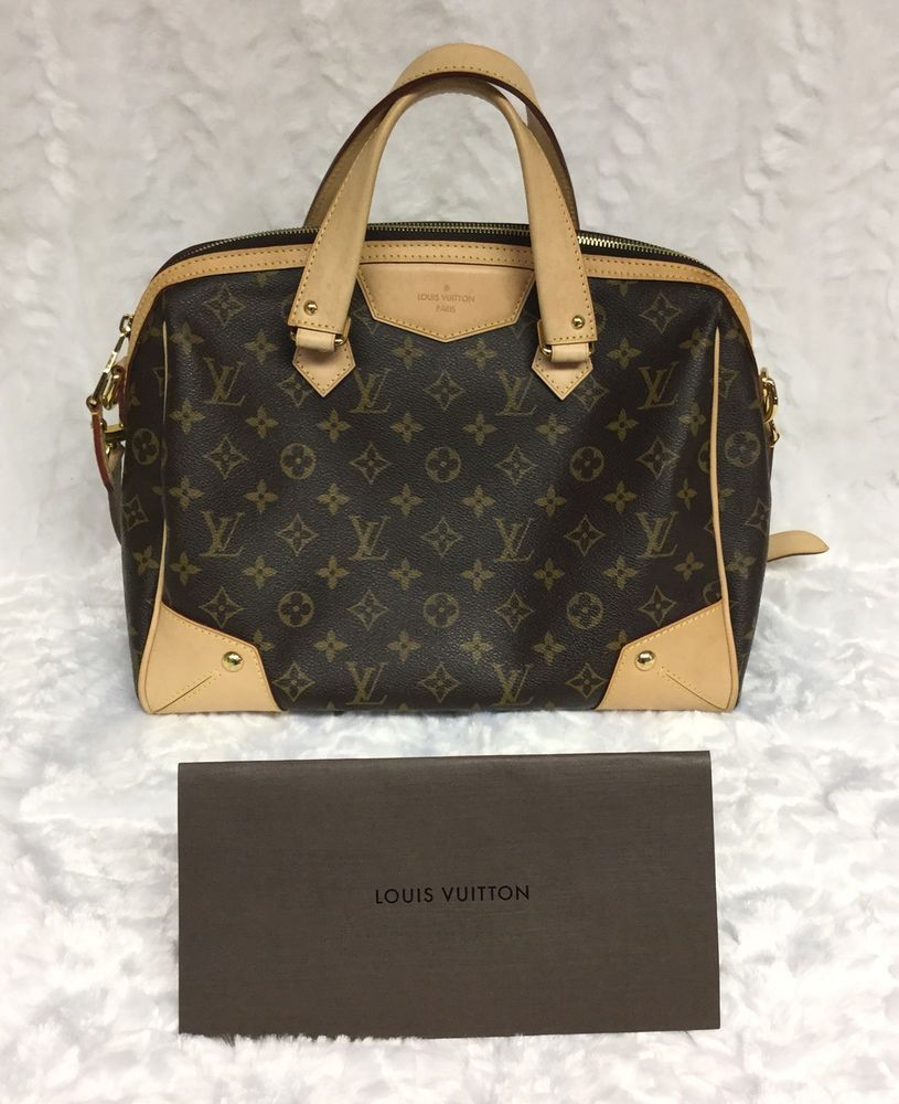 Authentic Louis Vuitton Retiro Monogram Bag Purse Made In Usa Sd2194 Ebay