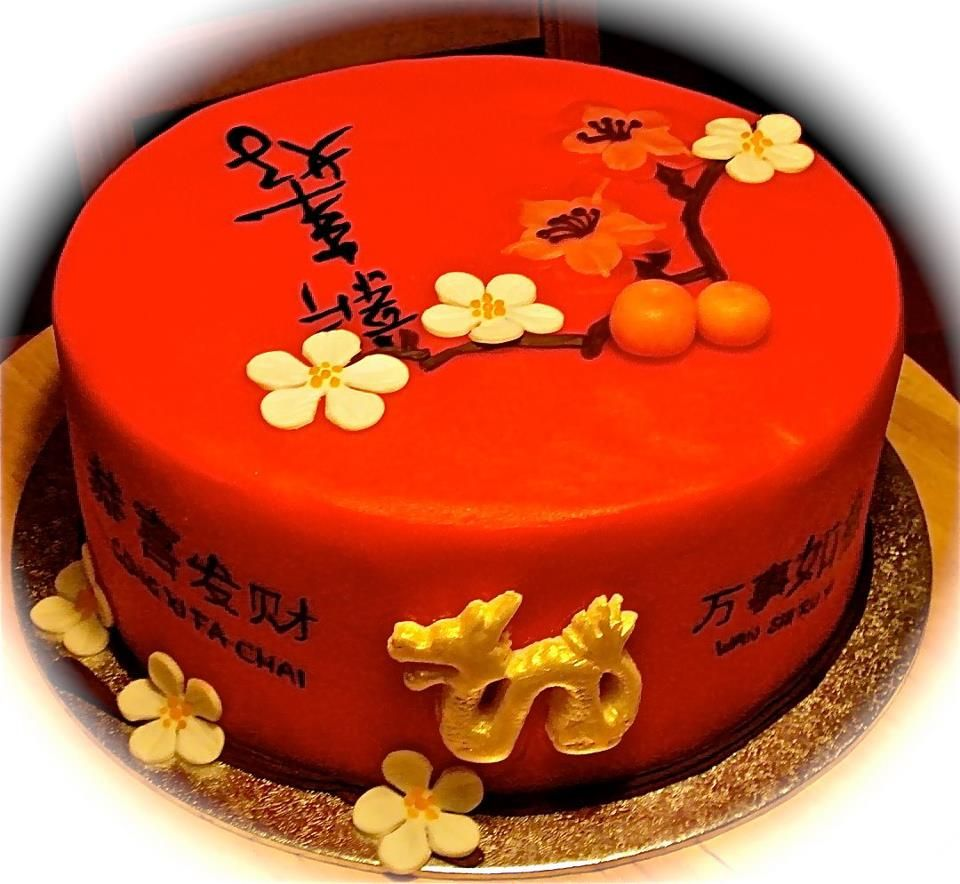 This is my Chinese new years cake. (Cake dummy) i wish you ...