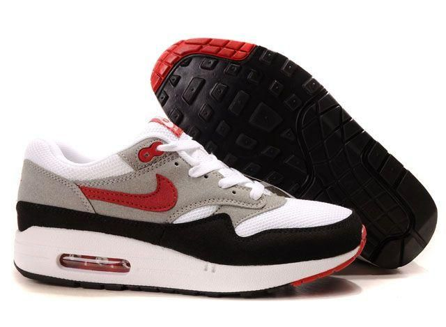 Nike Air Max 87 Gray Black Red White | Nike Air Max 87 | Nike air ...
