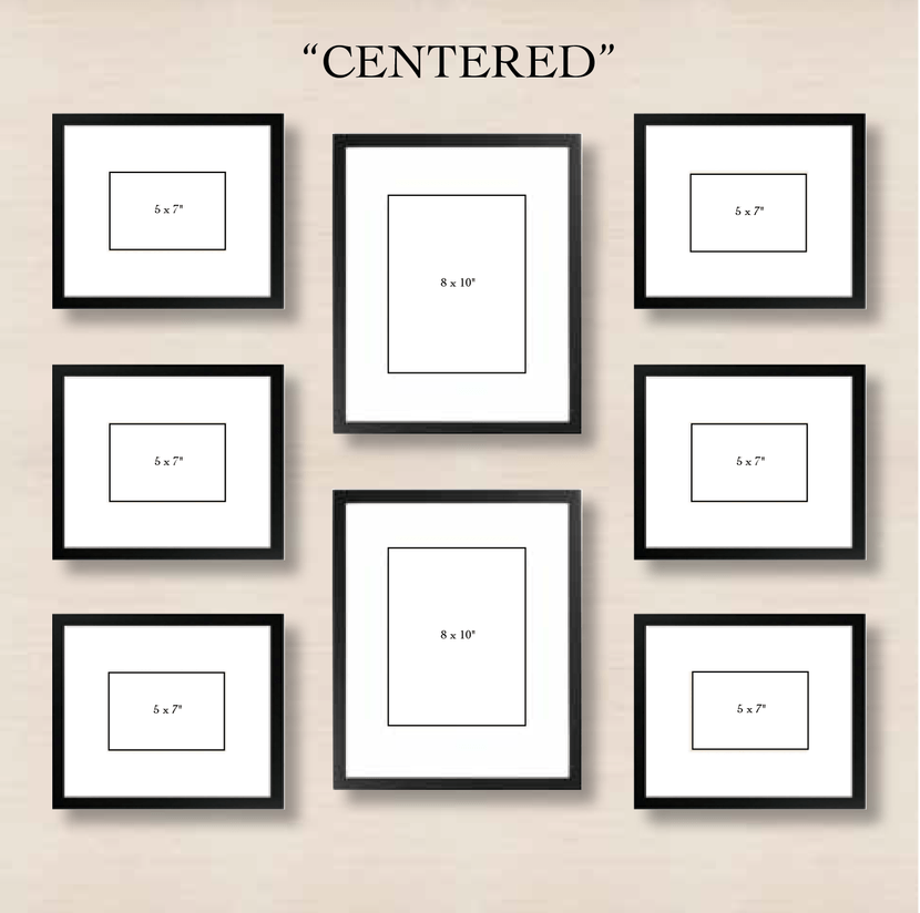 6 WAYS TO SET UP A GALLERY WALL   Centered: This Simple Layout Requires  Minimal Effort. Just Choose One Or Two Frames To Center And Align The Left  And Right ...