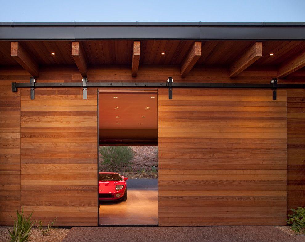 40 Stunning Garage Designs Ideas Contemporary Barn Sliding Garage Doors Garage Door Design