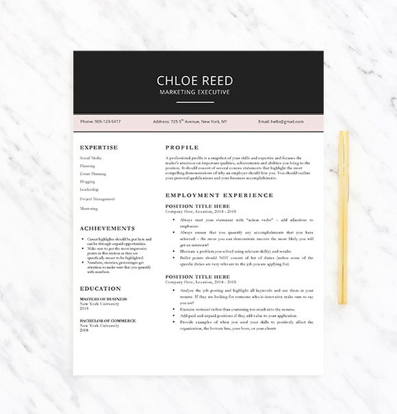 Professional Resume Template by Career Resumes Inc on Creative