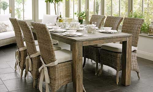 Wicker Dining Chairs  Furniture And House Stuff  Pinterest Endearing Wicker Dining Room Sets Review
