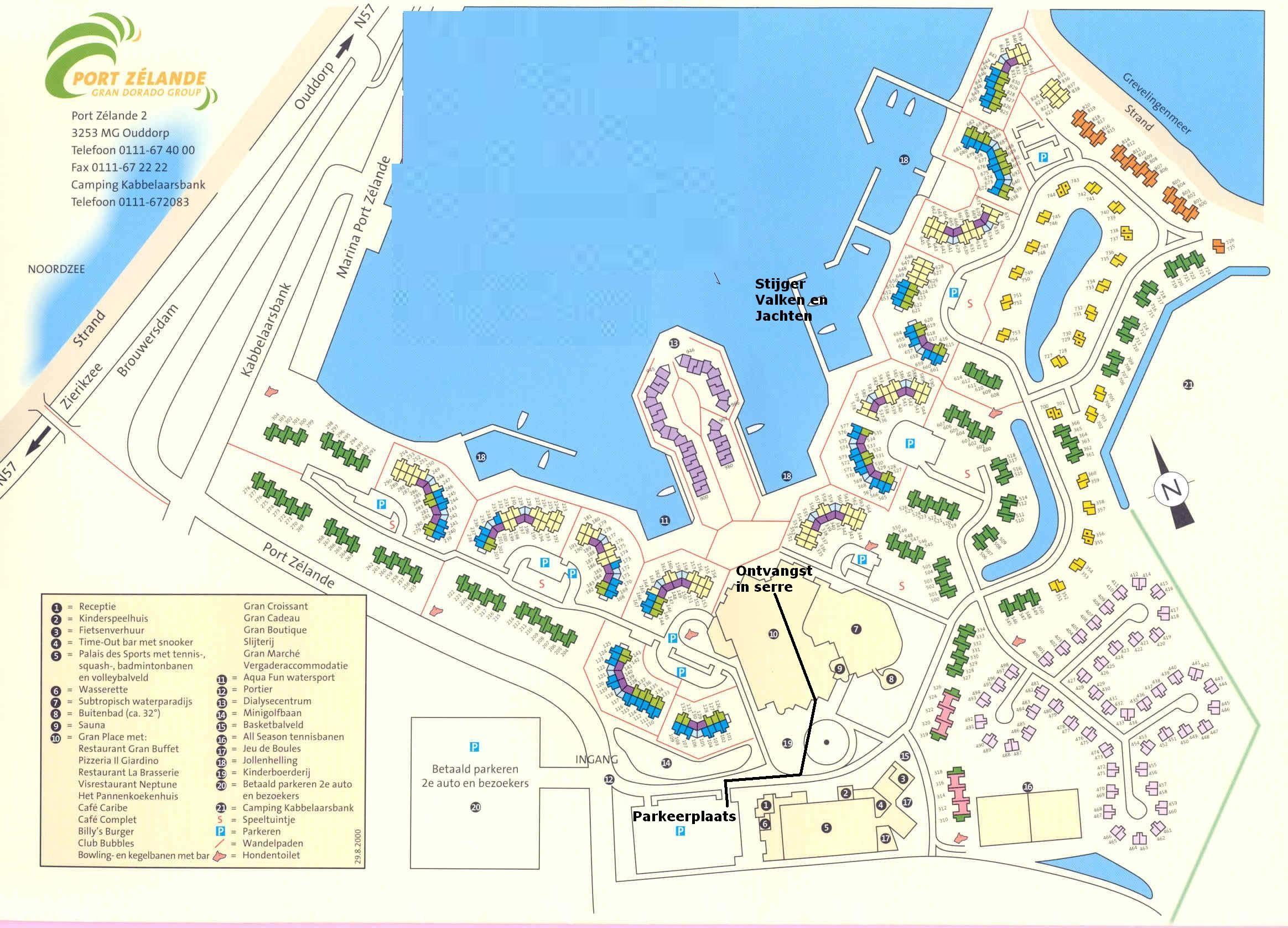 Plattegrond centerparcs port zelande vakanties for Port zelande map