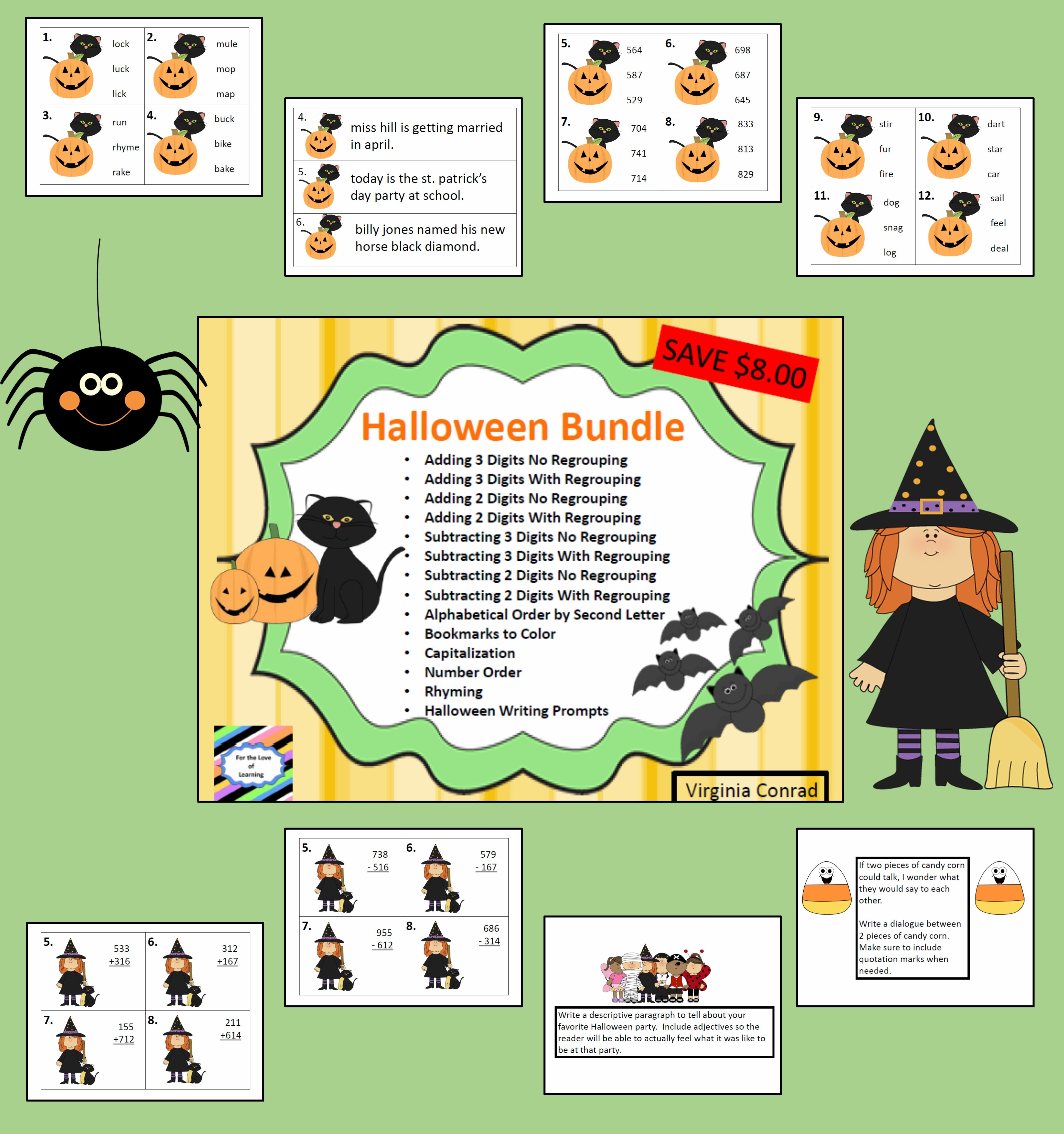 Halloween Bundle Activities Ready To Go