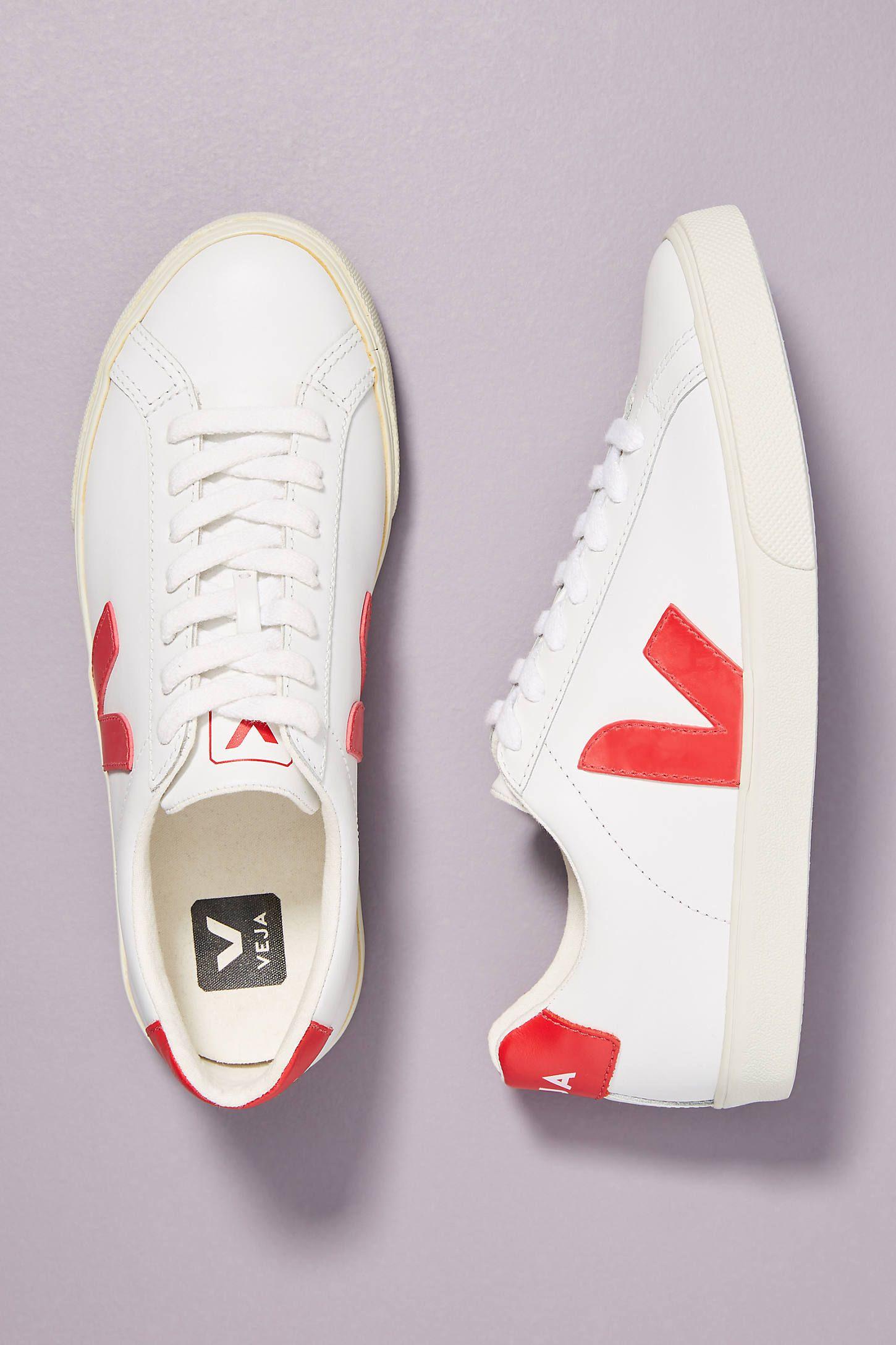 Veja Red Low-top Sneakers | ModeSens in