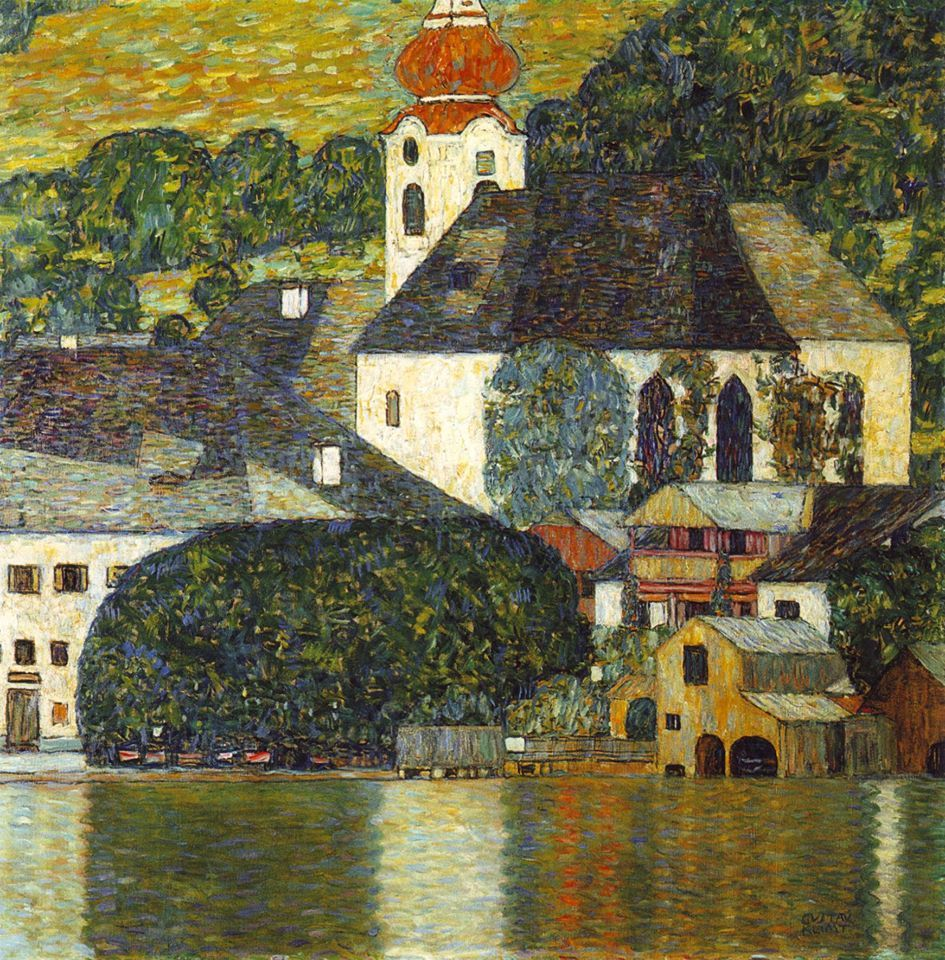 Gustav Klimt Church In Unterach On The Attersee Klimt Art