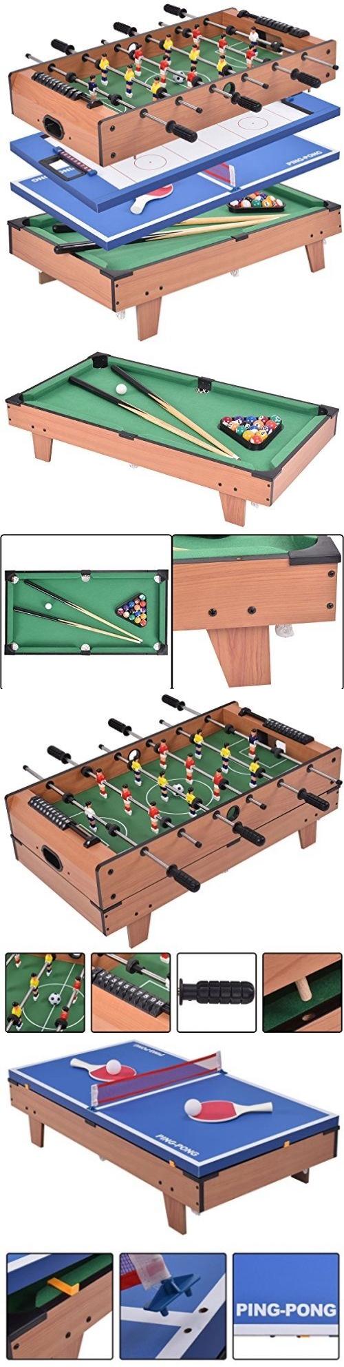 Tables 21213: Giantex 4 In 1 Multi Game Table Pool Air Hockey Foosball Table  Tennis