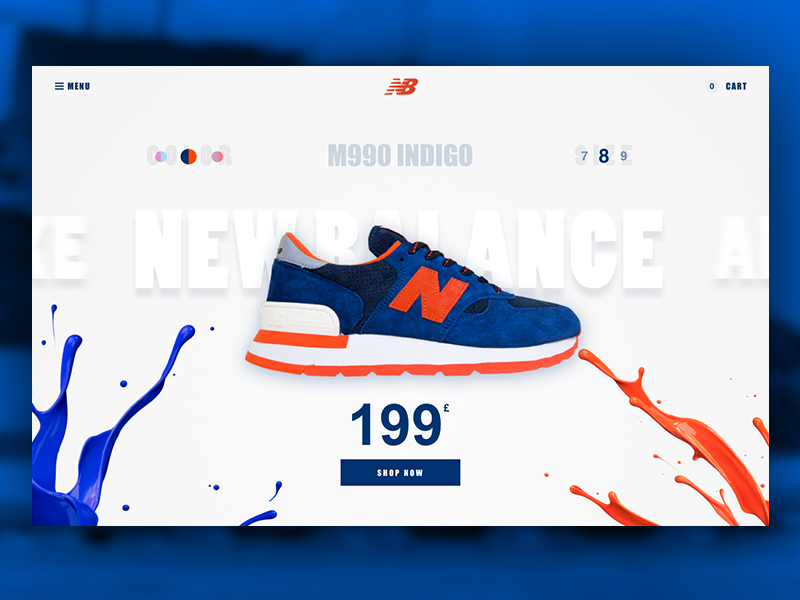 New Balance Sneakers Web Design This Webpage Illustrates Somewhat Of A Radial Balance Because The Paint Spla New Balance Sneakers Shoe Poster Sneakers Sketch