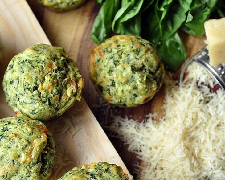 Pesto-Spinach Muffins #spinachmuffins