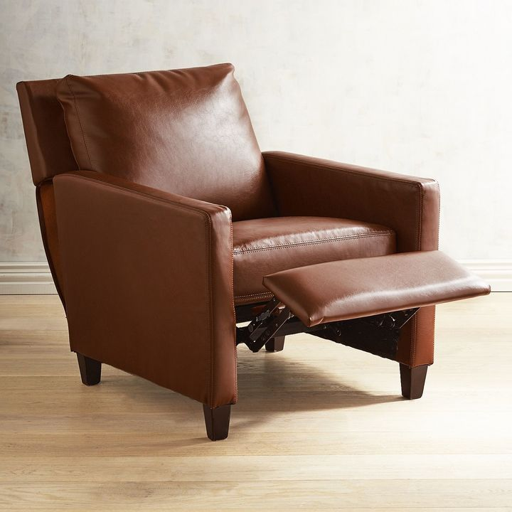 Surprising Pier 1 Imports Darren Saddle Brown Recliner Brown Leather Creativecarmelina Interior Chair Design Creativecarmelinacom