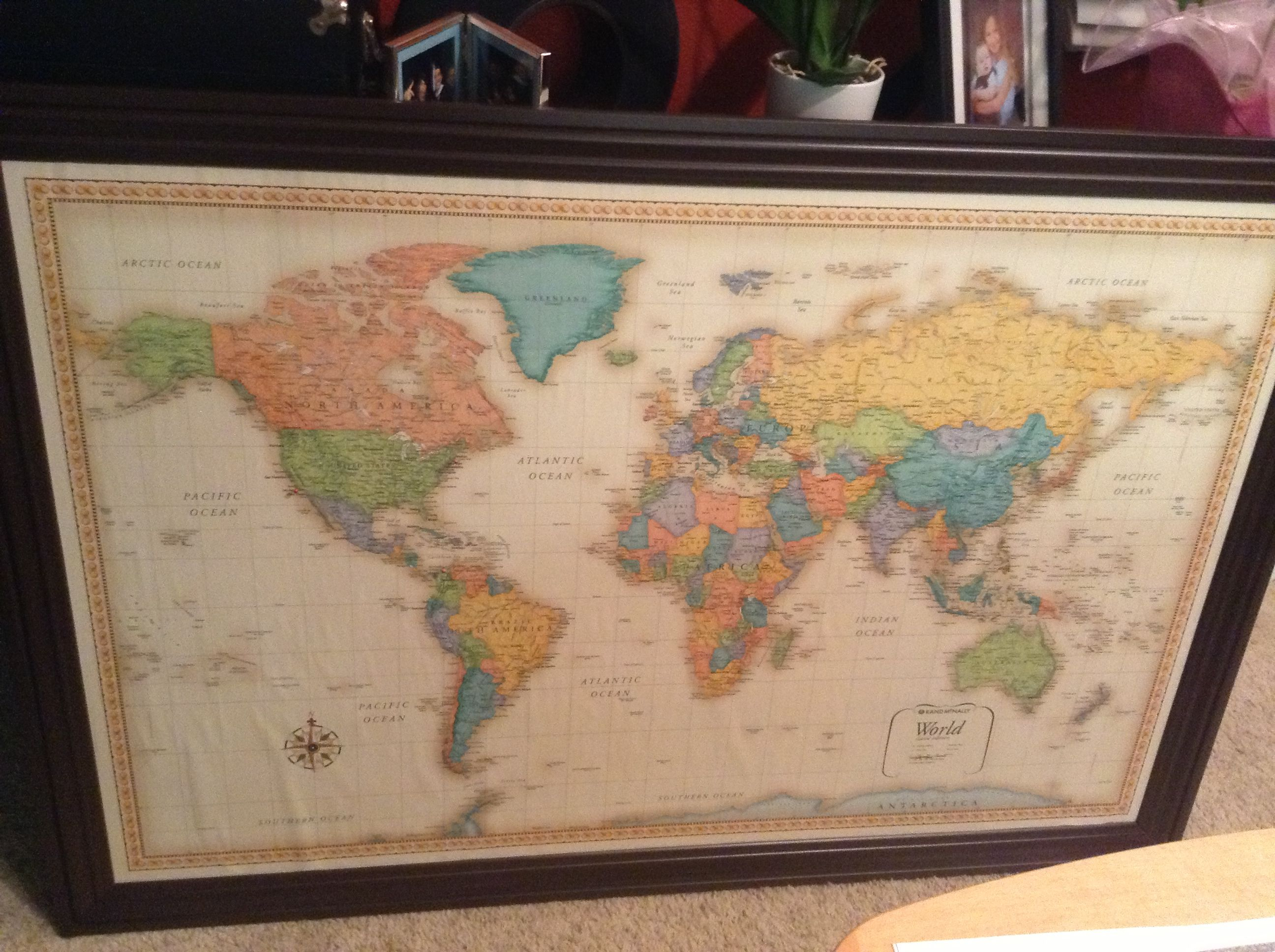 50x32 map, foam core, moulding | home | Pinterest | Playrooms