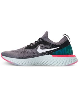 99d12a8da02d Nike Women s Epic React Flyknit Running Sneakers from Finish Line - Black  8.5