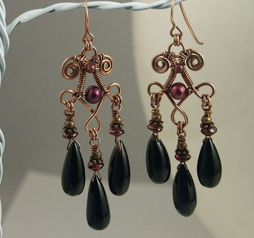 Gothic Earrings by MaryTucker, via Flickr