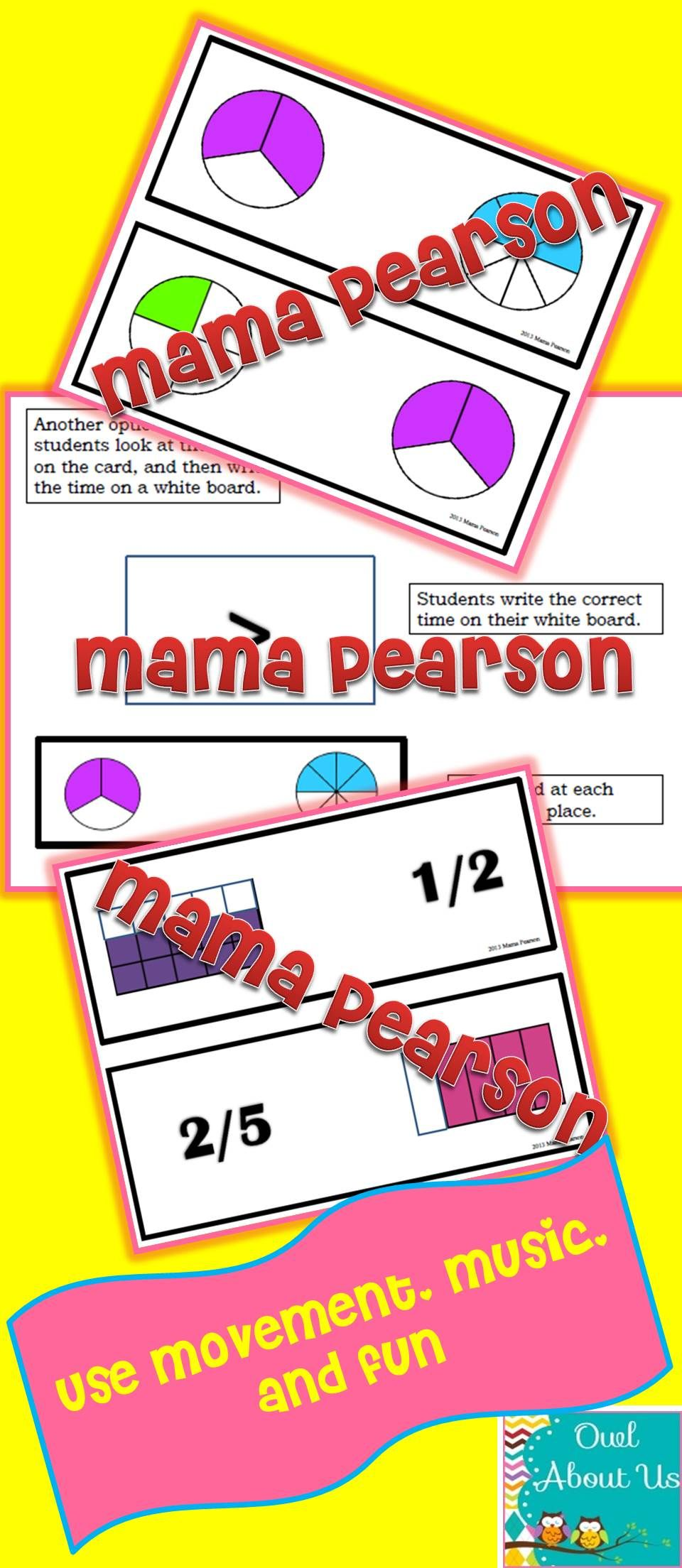 Use Movement And Music To Compare Fractions Fractions Math Games 4th Grade Math [ 2208 x 960 Pixel ]
