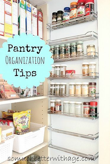 You could get your pantry organized using these tips in a day.