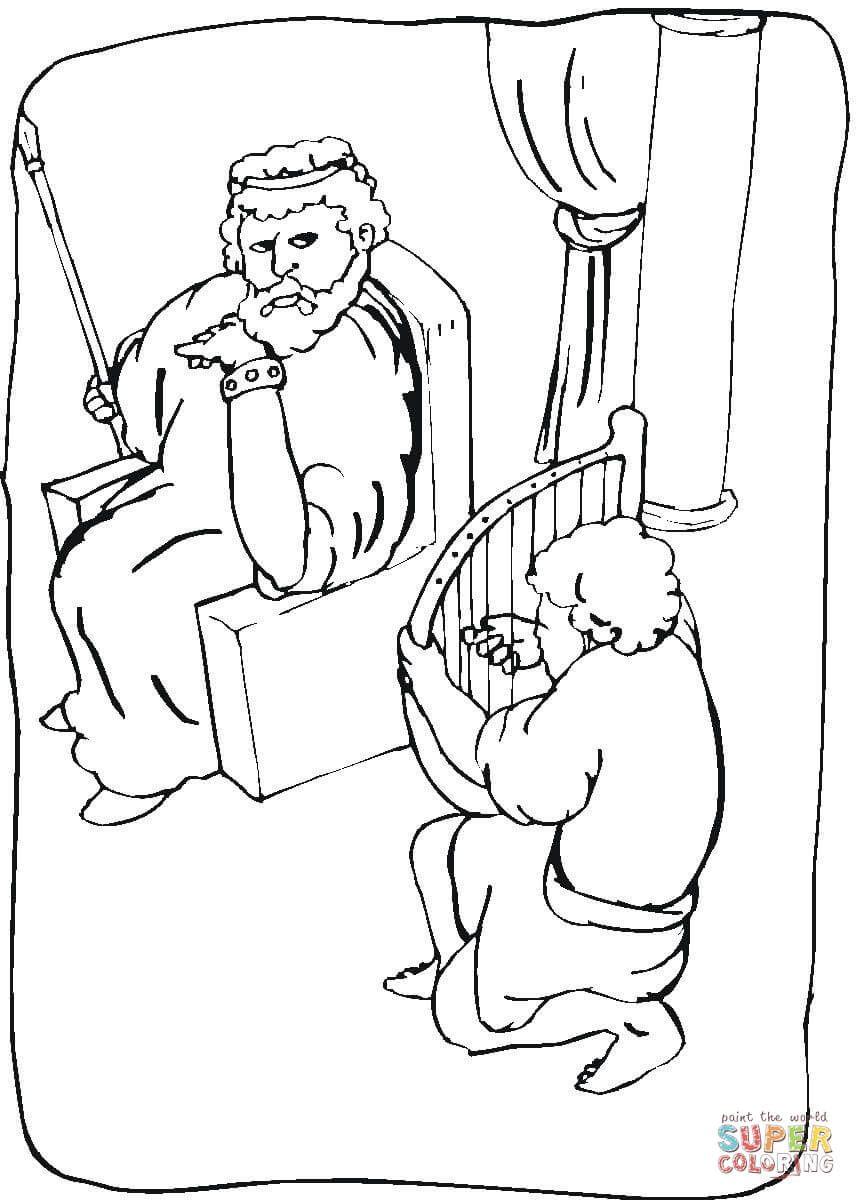 Koenig Saul Ausmalbilder Ausmalbilder Koenig Desenhos Biblicos