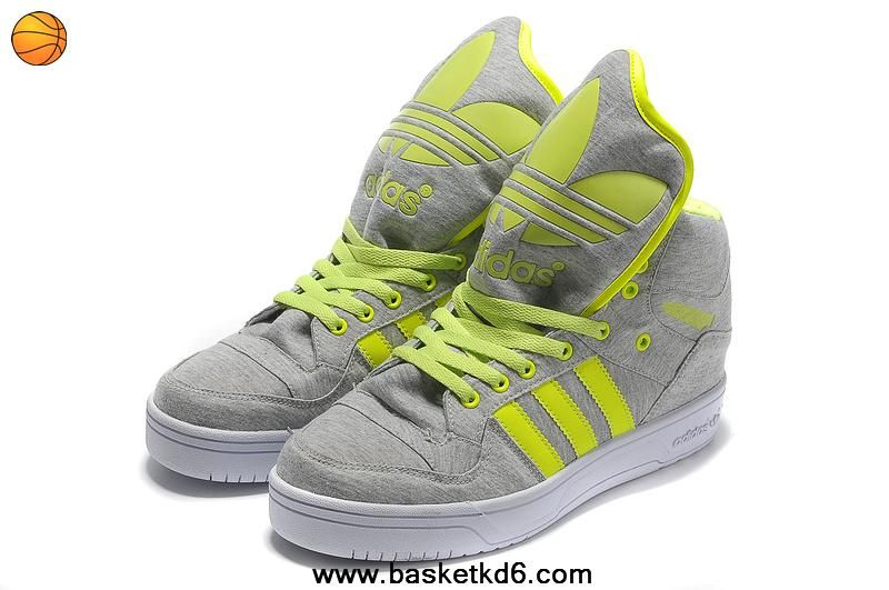 outlet store 510db 20f83 Authentic Adidas X Jeremy Scott Big Tongue Shoes Grey Green