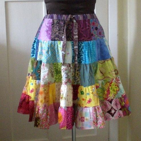 14f808ade06 Rainbow Patchwork Skirt
